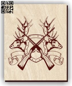 Deer E0011280 file cdr and dxf free vector download for laser engraving machines