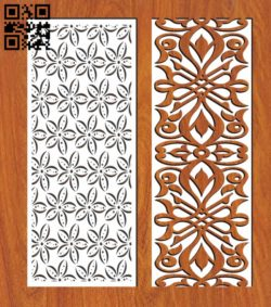 Design pattern screen panel E0011135 file cdr and dxf free vector download for Laser cut cnc