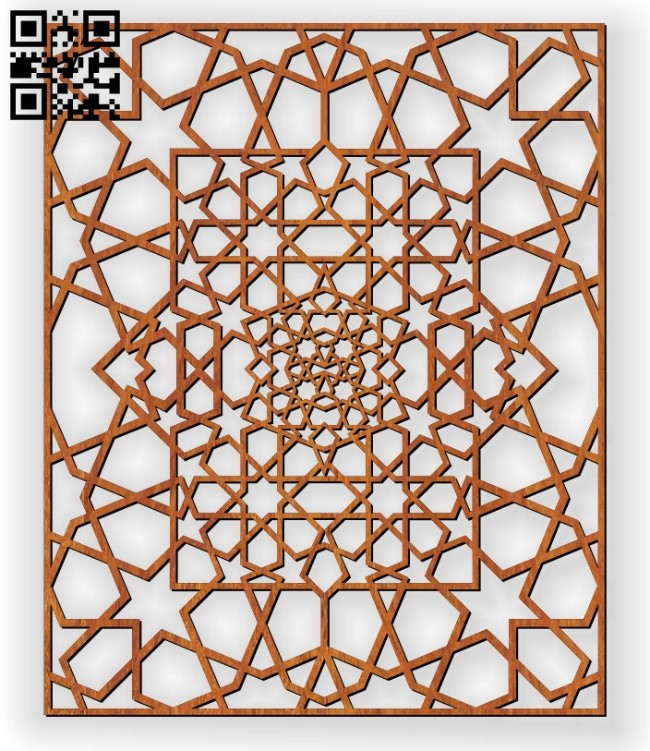 Design pattern screen panel E0011136 file cdr and dxf free vector download for Laser cut cnc
