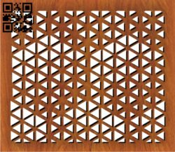 Design pattern screen panel E0011137 file cdr and dxf free vector download for Laser cut cnc
