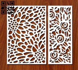 Design pattern screen panel E0011290 file cdr and dxf free vector download for Laser cut cnc
