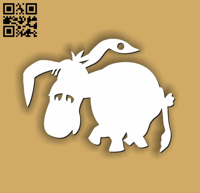 Donkey key chain E0011212 file cdr and dxf free vector download for Laser cut