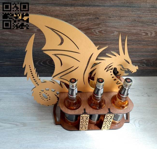 Dragon beer tray E0010978 file cdr and dxf free vector download for Laser cut
