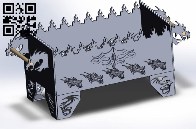 Dragon grill E0011094 file cdr and dxf free vector download for Laser cut Plasma