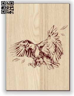 Eagle E0011099 file cdr and dxf free vector download for laser engraving machines