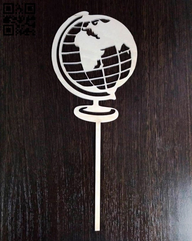 Earth topper E0011139 file cdr and dxf free vector download for Laser cut cnc