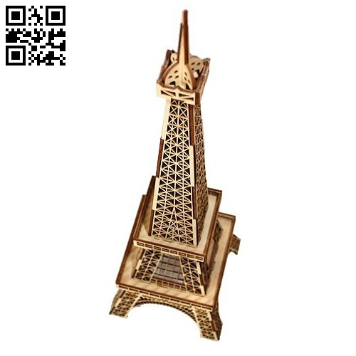 Eiffel tower model E0011203 file cdr and dxf free vector download for Laser cut