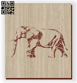 Elephants E0011128 file cdr and dxf free vector download for laser engraving machines