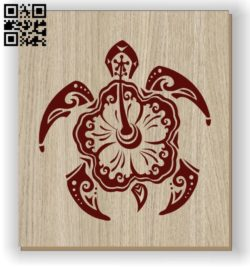 Flower Turtle E0011125 file cdr and dxf free vector download for laser engraving machines