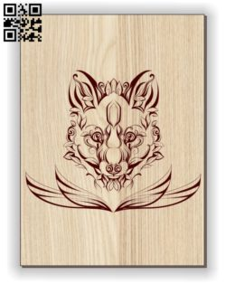 Fox E0011100 file cdr and dxf free vector download for laser engraving machines