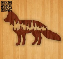 Fox E0010952 file cdr and dxf free vector download for Laser cut Plasma
