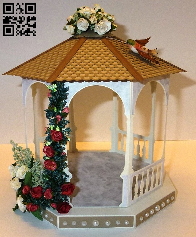 Gazebo E0011340 file cdr and dxf free vector download for laser cut