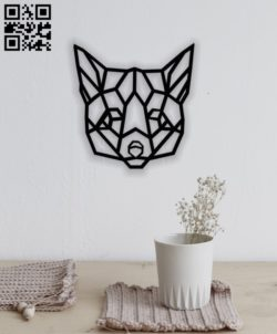 Geometric Fox E0011354 free vector download for laser cut