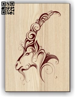Goat E0011255 file cdr and dxf free vector download for laser engraving machines