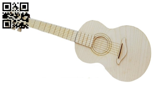 Guitar box E0011000 file cdr and dxf free vector download for Laser cut
