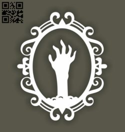 Hand E0010956 file cdr and dxf free vector download for Laser cut