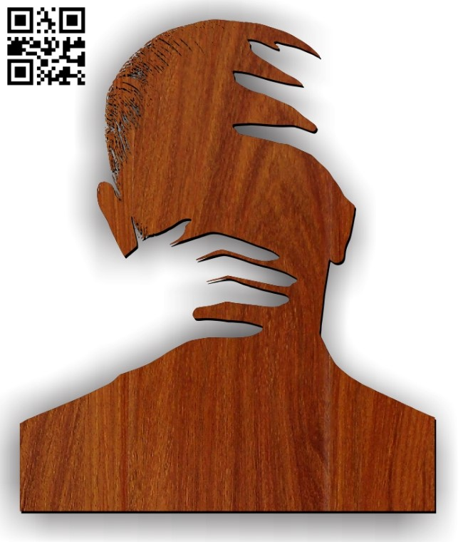 Hands holding head E0011227 file cdr and dxf free vector download for Laser cut