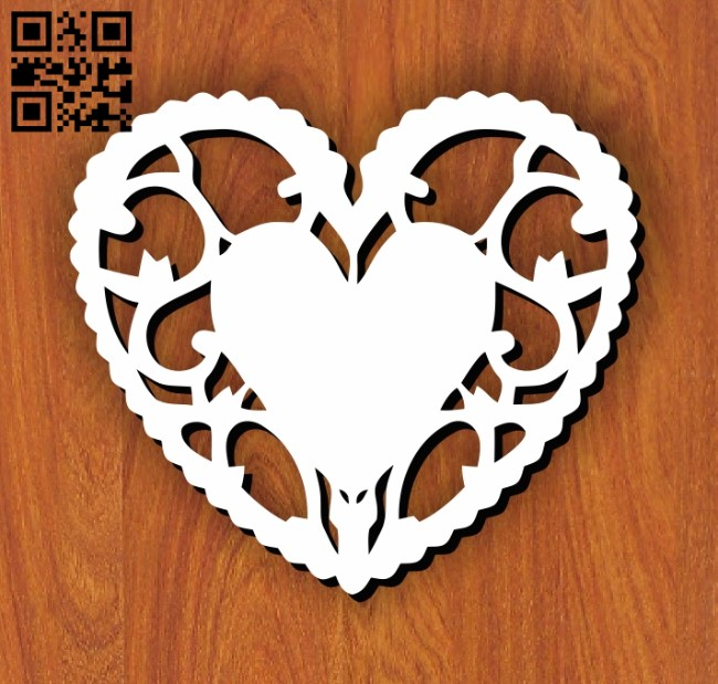 Heart E0011078 file cdr and dxf free vector download for laser cut