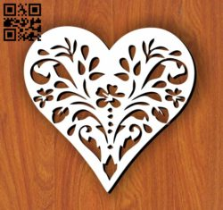 Heart E0011079 file cdr and dxf free vector download for laser cut