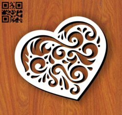 Heart E0011080 file cdr and dxf free vector download for laser cut