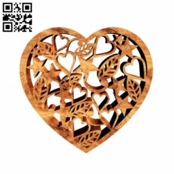 Heart E0011101 file cdr and dxf free vector download for laser cut