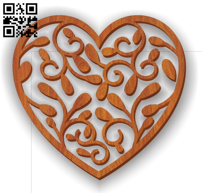 Heart E0011196 file cdr and dxf free vector download for Laser cut