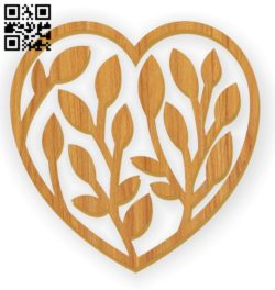 Heart E0011197 file cdr and dxf free vector download for Laser cut