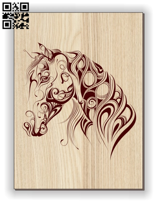 Horse E0011098 file cdr and dxf free vector download for laser engraving machines