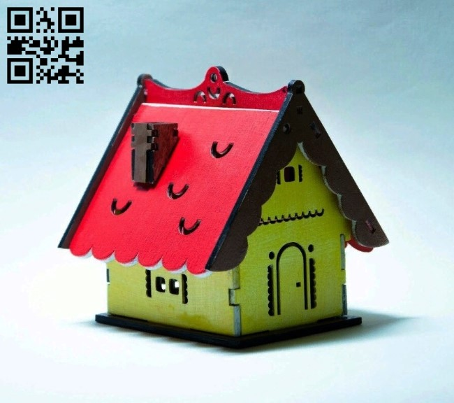 House E0011006 file cdr and dxf free vector download for Laser cut