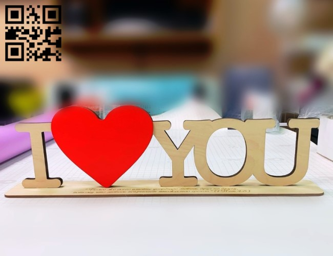 I love you E0011014 file cdr and dxf free vector download for Laser cut