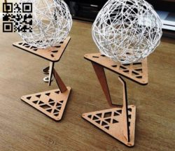 Impossible Table Tensegrity  E0011062 file cdr and dxf free vector download for Laser cut