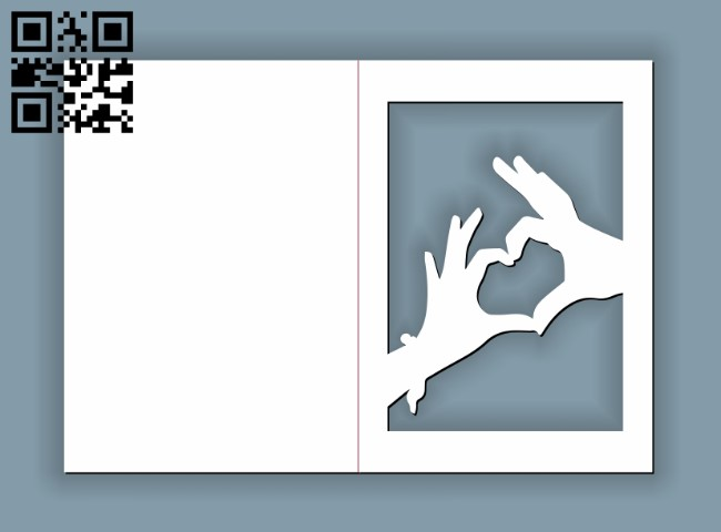 Ivitation cards E0010951 file cdr and dxf free vector download for Laser cut