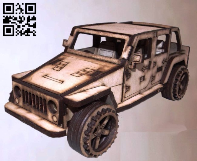 Jeep car E0011302 file cdr and dxf free vector download for Laser cut