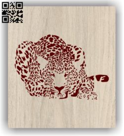 Leopard E0011306 file cdr and dxf free vector download for laser engraving machines