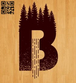 Letter B art E0011032 file cdr and dxf free vector download for laser engraving machines
