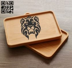 Lion E0010924 file cdr and dxf free vector download for laser engraving machines