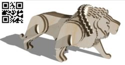 Lion E0011208 file cdr and dxf free vector download for Laser cut
