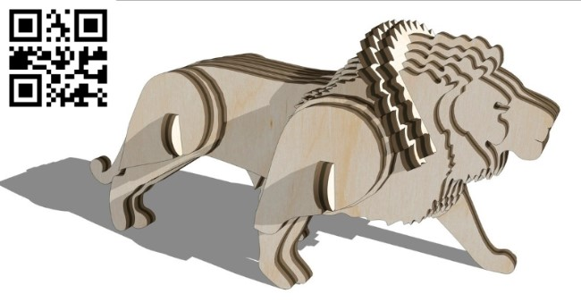 Lion E0011208 file cdr and dxf free vector download for Laser cut 1