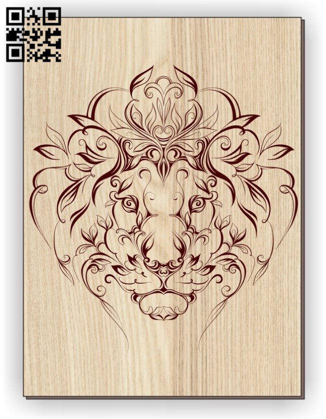 Lion E0011253 file cdr and dxf free vector download for laser engraving machines