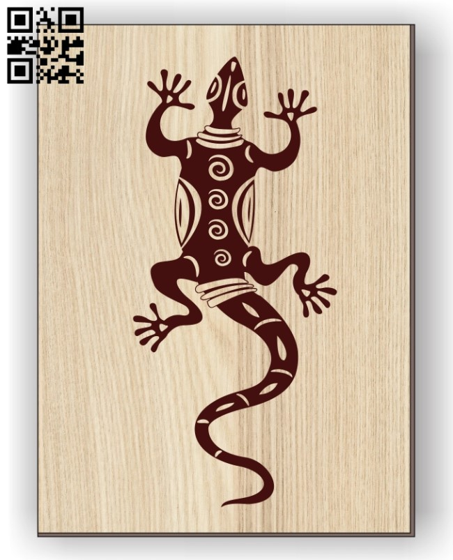 Lizard E0011065 file cdr and dxf free vector download for laser engraving machines