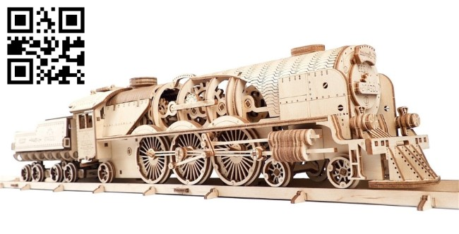 Locomotive E0011150 file cdr and dxf free vector download for laser cut