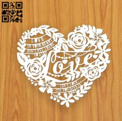 Love E0010985 File cdr and dxf free vector download for laser cut