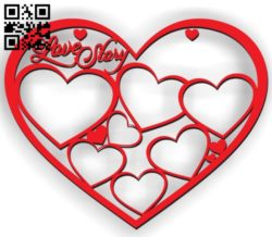 Love Story E0011338 file cdr and dxf free vector download for Laser cut