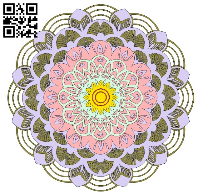 Mandala E0011109 file cdr and dxf free vector download for Laser cut