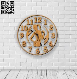 Massage salon clock E0011114 file cdr and dxf free vector download for Laser cut