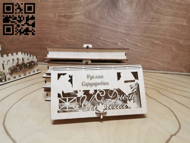 Money box E0011315 file cdr and dxf free vector download for Laser cut