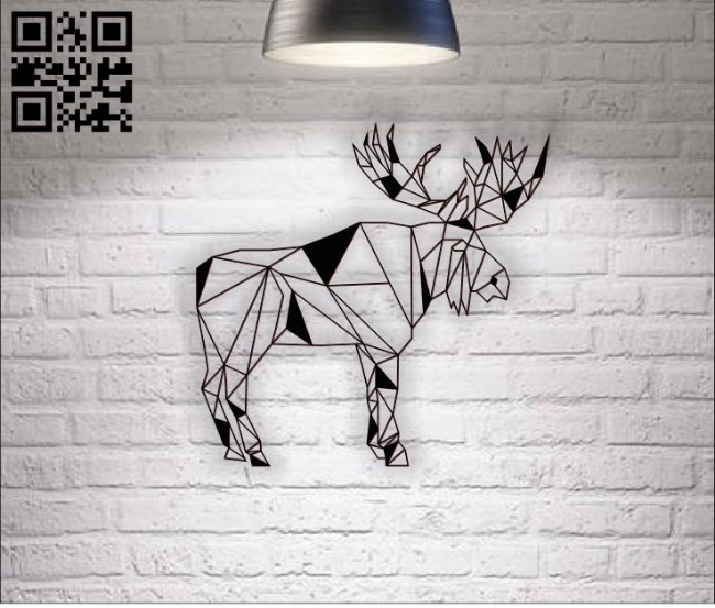 Moose E0011186 file cdr and dxf free vector download for laser cut