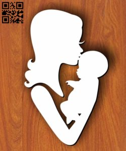 Mother and baby E0011226 file cdr and dxf free vector download for Laser cut