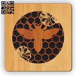 Multilayer bee E0011267 file cdr and dxf free vector download for laser cut