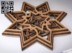 Multilayer star E0011240 file cdr and dxf free vector download for Laser cut